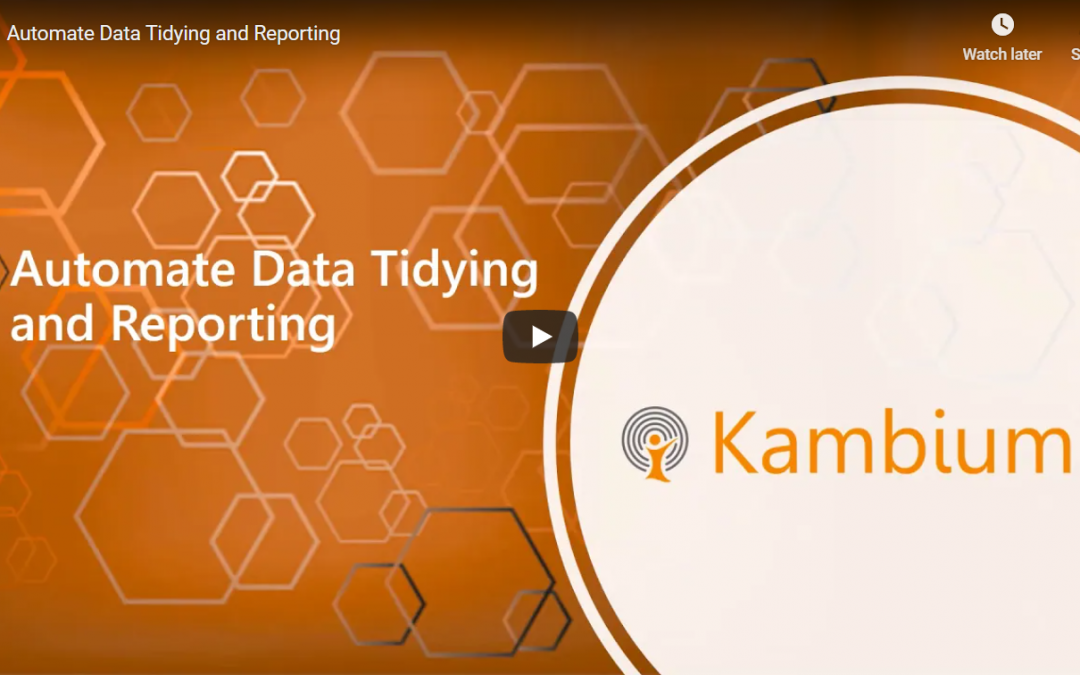 Automate Data Tidying and Reporting